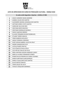 LISTA DE APROVADOS DO CURSO DE PRODUÇÃO CULTURAL 28MAR18-1